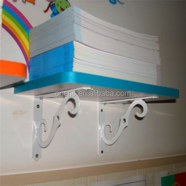 Decorative Metal Partition Wall Rack Shelf Support Bracket for Set-top Boxes
