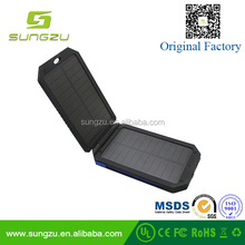 Original newest Folding solar cell solar power bank 7800 mAh power bank with CE&RoHS&FCC approved