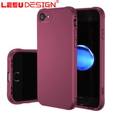 LEEU DESIGN skockproof airbag cover silicone oil injection blank matte cell phone oem case for iphone 7