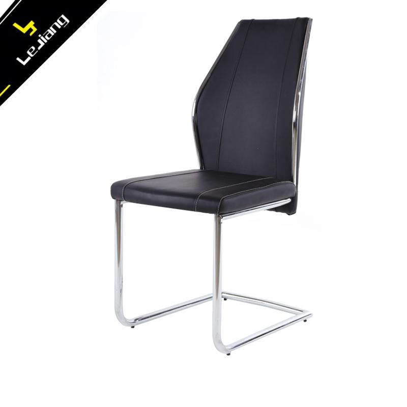 Black Metal Dining Chairs my text modern black metal dining chair leather metal chair