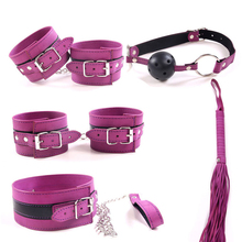 5PCS/set Purple SM Sex Bondage Kit Set Sex Toys for Adult Game