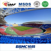 IAAF certificate 13mm Polyurethane Athletic Rubber Running Track Surface Synthetic Rubber Running Track Material
