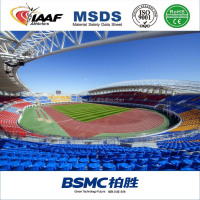 IAAF certificate 13mm Polyurethane Athletic Running Track Surface, Rubber Running Track/rubber running track material
