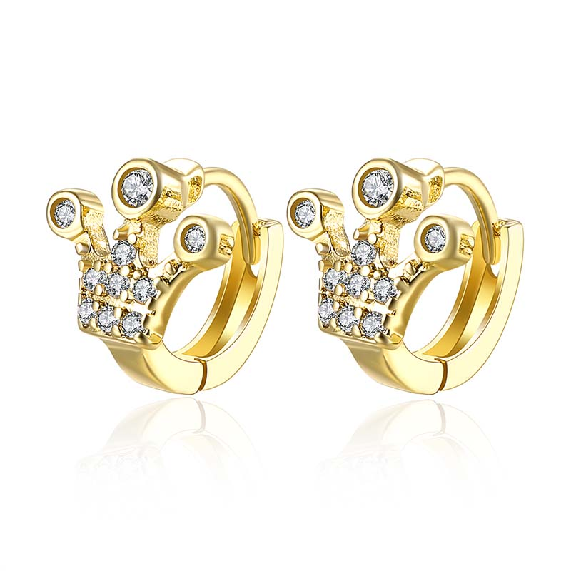 Fashion luxury crystal ultra thin 18 karat large gold hoop earrings <strong>jewelry</strong> wholesale