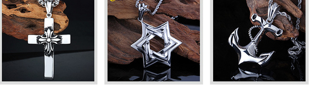 New Items Creative Anchor Pattern Stainless Steel Pandant Necklace