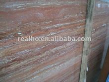 filled red travertine