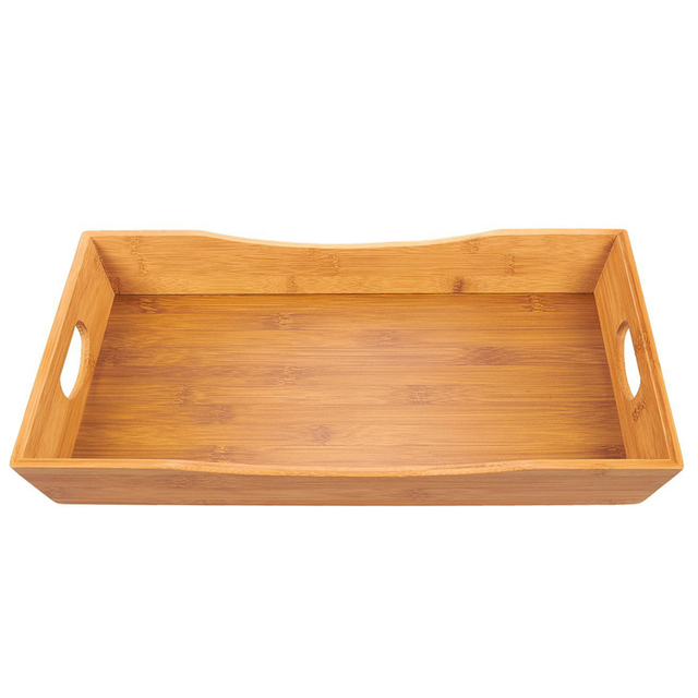 Wholesale Cheap Breakfast Bamboo Serving Tray for Food and Beverage