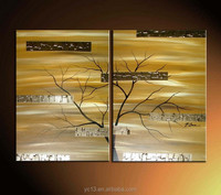 hot sell arts of modern abstract trees oil painting for decorative B0076