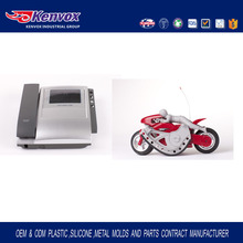 Good quality China injection molded plastic parts stunt motorcycle,car accessories and pc dispaly housing
