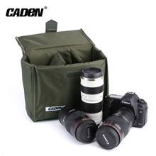 Portable army green military style multiple sizes dslr camera insert bag