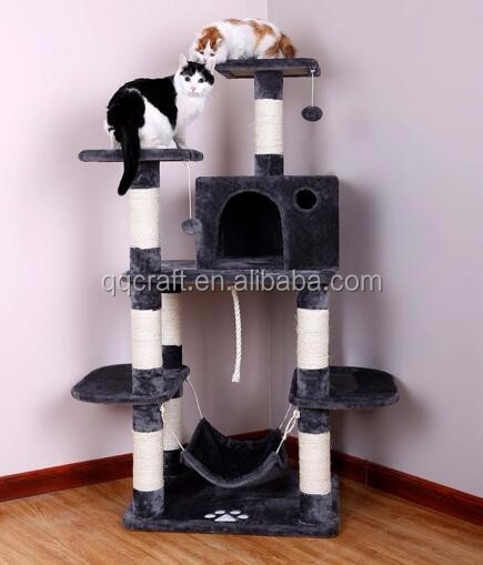 QQPET BSCI Factory OEM Cat Tree Condo Sisal Scratch Posts Kitty Furniture