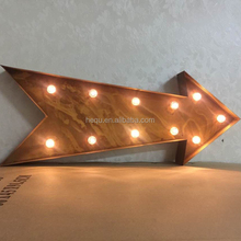 Free standing battery operated decoration led light up lighting art craft lighted 3d hanging metal arrow wall decor