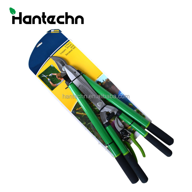 manual hedge shears rachet lopper shears lopping telescopic hedge shear