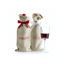 Cheap line wine bags high quality, burlap wine bags wholesale