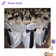 cheap white chair covers with satin sash
