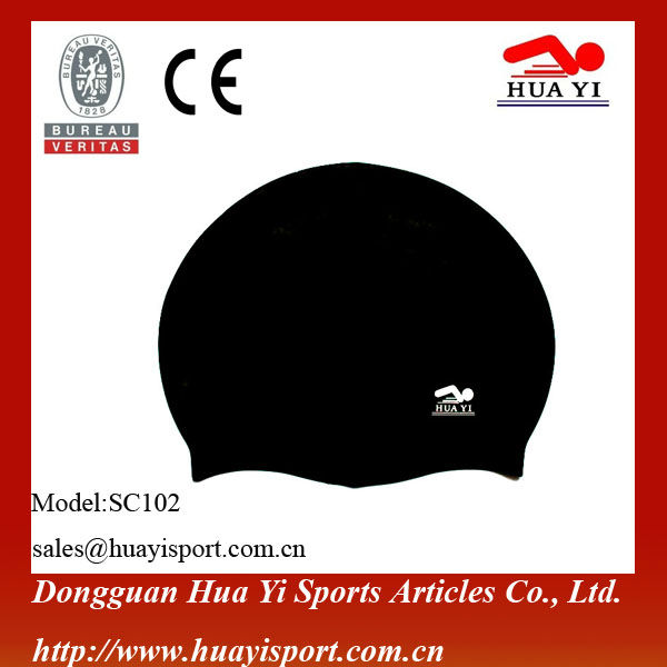 Customized logo printing Slicone waterproof swim caps