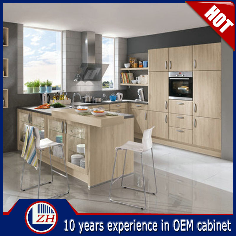 Made in china white color diy kitchen cabinet for housing for Made to order kitchen cabinets