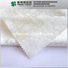 XLH928 New fashion Ivory color 46% polyester, 51% Cotton, 3% spendex custom jacquard brocade fabric