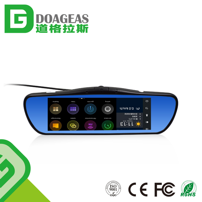 5 in 1 Car dvr+rearview mirror+gps navigation+Android 5.1+WIFI+6.86inch Capacitive Screen+FMT