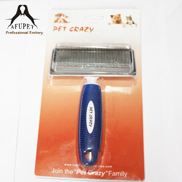 2015 new Rubber handle pet Deshedding Comb Grooming Tools Pet Brush