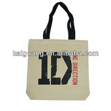 One Direction 1Direction Black Logo Limited Edition Canvas Tote Bag - Thick 12oz