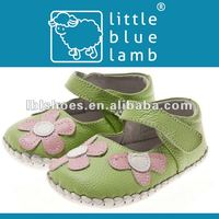 hot selling flower cute leather dress infant shoe BB-A1102GR