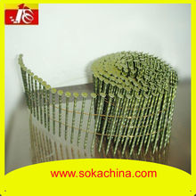helical /screw/twisted shank pallet coil nails varnish coated