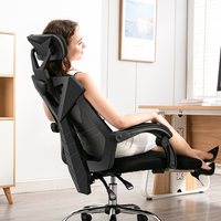 Comfortable office furniture office desk chairs with wheels mesh chair back fabric office chair