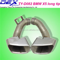 auto spare tuning car racing exhaust muffler tip for BM--W X5