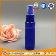 CN2015 BV and FDA pen style 40ml plastic spray bule bottle with butterfly cap