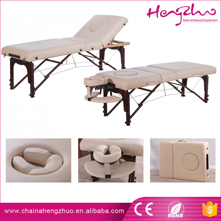 Hotsale easy carry thai full body sex message bed folding salon table for dubai