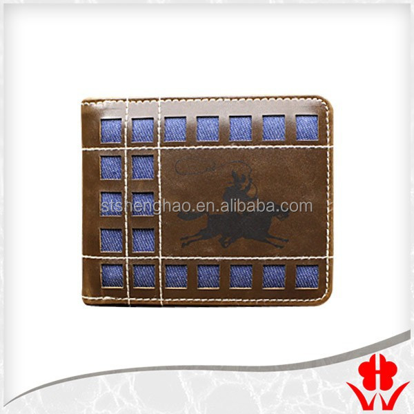 The PU fashion leather band men's wallet