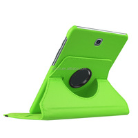 High quality pu leather rotating stand leather case for tablet pc for samsung tab