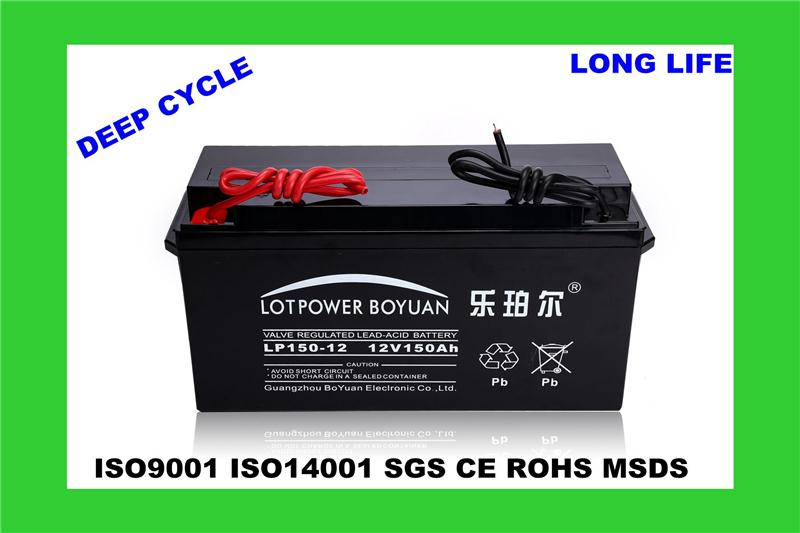 12v ups battery prices in pakistan storage battery solar LP150-12 vlra battery deep cycle for electronics instruments