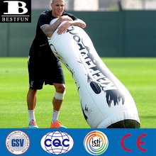 inflatable soccer training dummy durable plastic inflatable goalkeeper air mannequins inflatable keeper punching bag