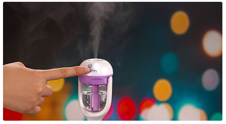 Nieuwe Draagbare Mini USB 100 ml Auto 12 v Stoom Luchtbevochtiger Purifier Washer Aromatherapie Ultrasone Air Aroma Diffuser