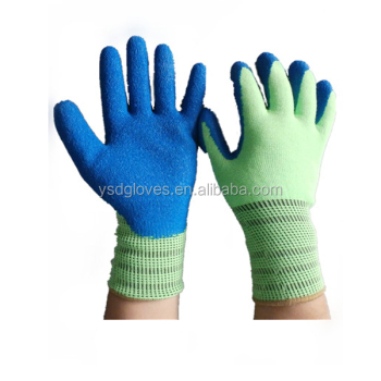 Latex Coated Crinkle Gloves Cut Resistant Working Glove