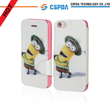 best price for Fashionable and unique design wallet flip pu case for iphone 5 5S 5C