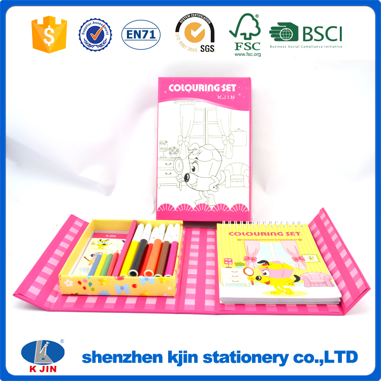 Customized OEM stationery set for kids painting, wholesale stationery set for gifts
