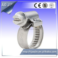 Galvanized steel hose clamp Metal hose clip band clamp