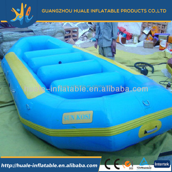 Hot sale high quality blue inflatable boat inflatable drifting boat for fun