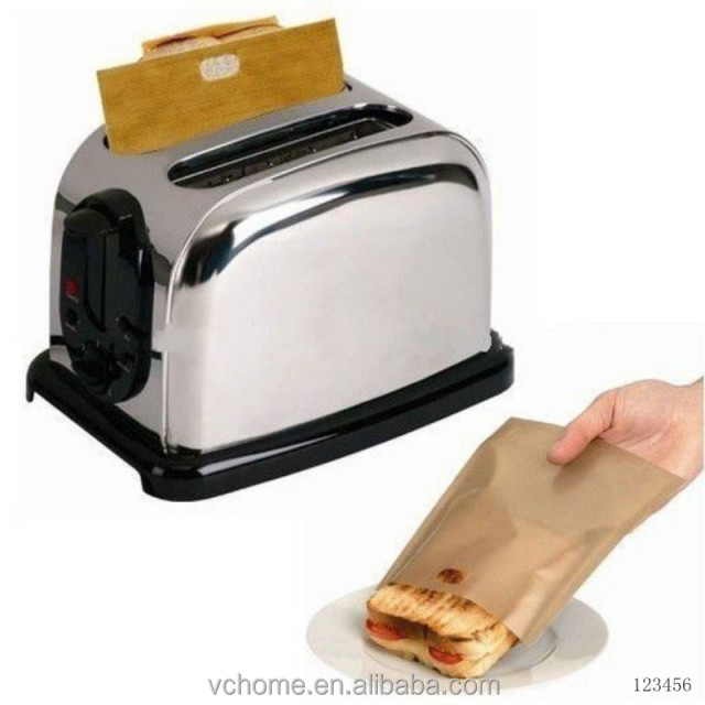 2015 100% Non-stick Reusable PTFE toaster bag easy sandwich