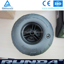 balloon wheels with plastic rim and PVC tire