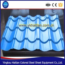 Steel sheet roof tile Colored Coated corrugated Metal Roofing made in China