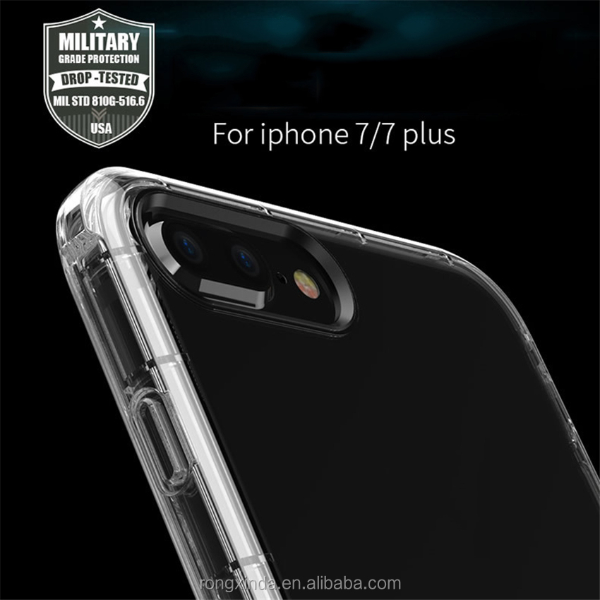 Cell Phone New High Quality For Iphone 7 Case Clear Soft TPU Shockproof Bumper Case For Iphone 7 Clear For Iphone 7 Cover