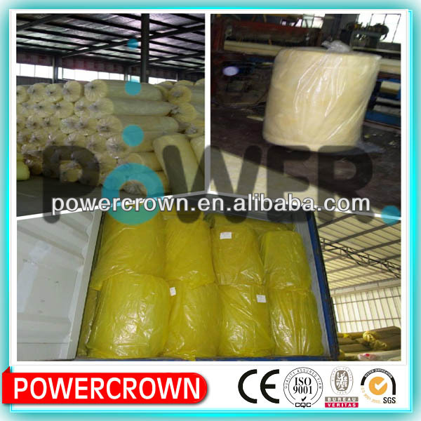 Central air-condition duct thermal insulation glass wool/steel stucture building insulation material