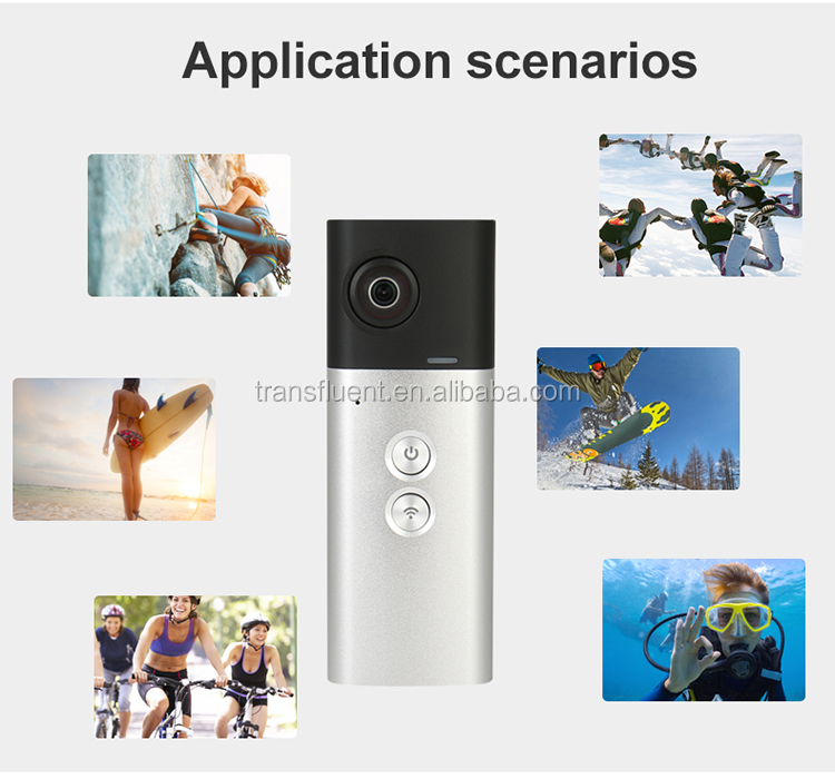 360VR camera dual lens camera panoramic action camera share video to facebook