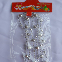 14mm Christmas Plastic Beads in Silver Color/Xmas Ornaments