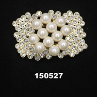 jeweled pearl newest design shoes accessories charm rhinestone metal accessory bows wedding