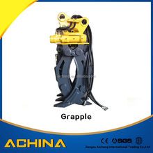 Hydraulic wood grapple ,log grapple for excavator PC60 PC70 PC120 PC200 PC220
